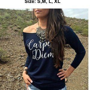 Tops - Carpe Diem womens Top long sleeve off shoulder